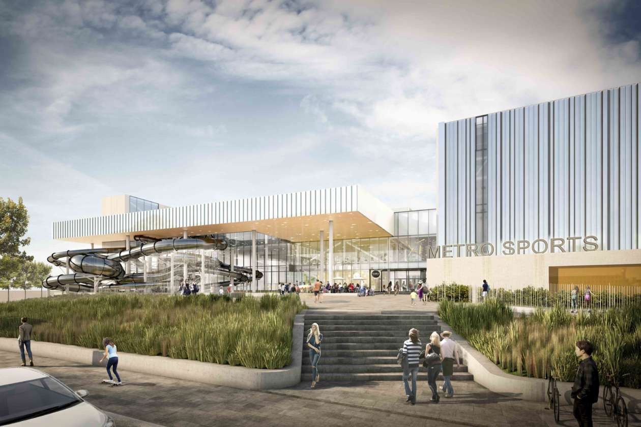 Metro Sports will open in 2020. In association with Peddle Thorp Architects Melbourne, and MJMA (Toronto).